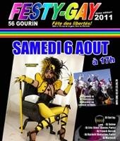 Avec le Festy Gay de Gourin , le rainbow flag flotte sur la Bretagne !