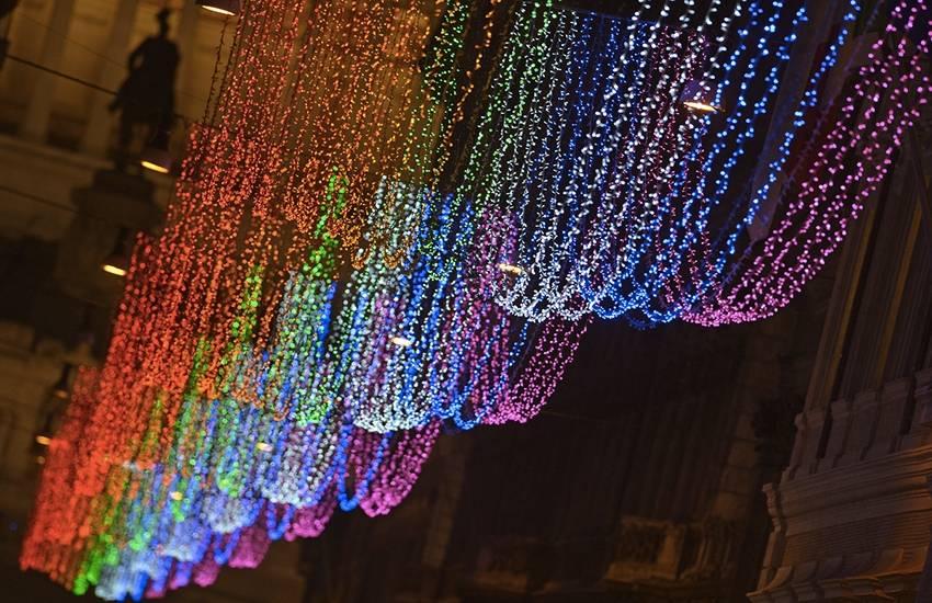 A Rome, des illuminations de Noël très gay-friendly