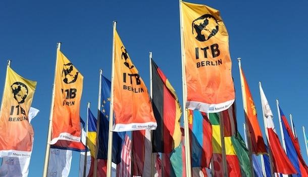 Le pavillon gay flotte sur l'ITB, le salon mondial du tourisme de Berlin.