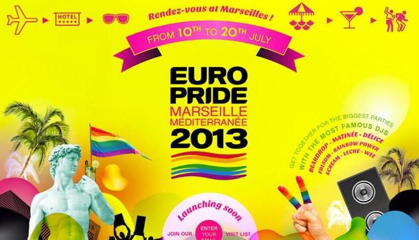 Europride 2013 in Marseilles in 4 months now!