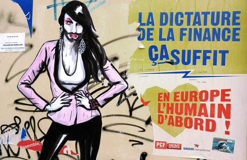 Conchita Wurst on Paris's walls