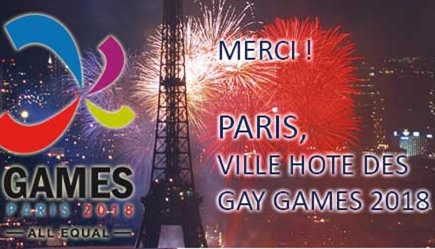 Paris to Host 2018 Gay Games!