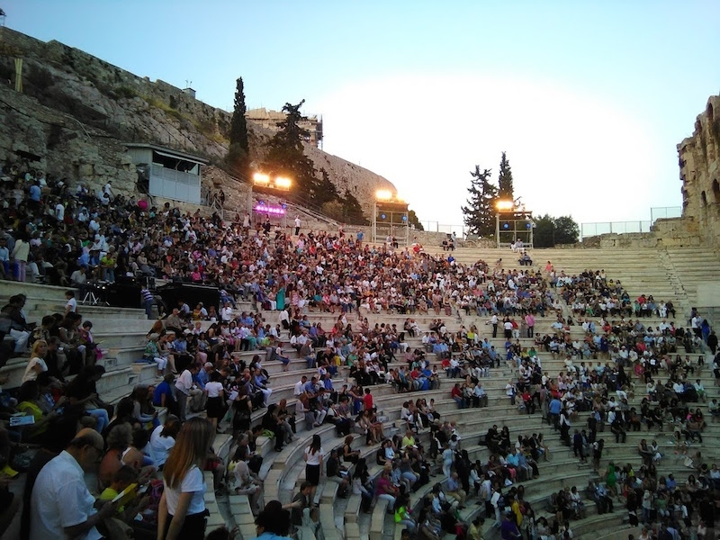 Herod Atticus Odeon, Acropolis