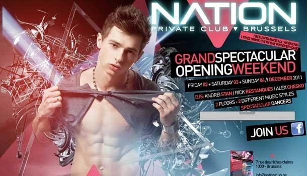 Le Nation Club, nouveau club gay à Bruxelles