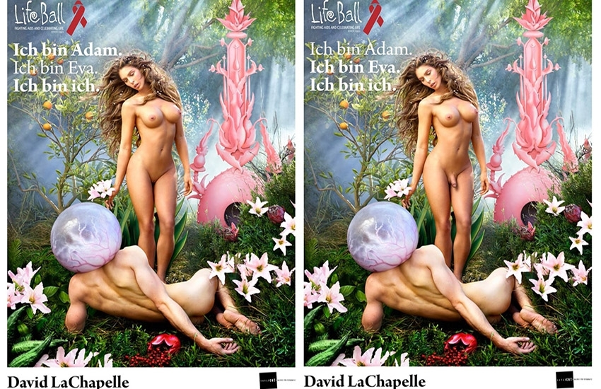 LifeBall de Vienne : Carmen Carrera nue par David LaChapelle