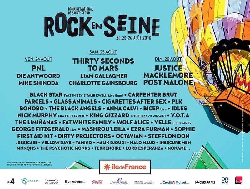 Affiche du Festival Rock en Seine 2018